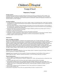 resume objectives exles sle resume objectives for respiratory therapist best of