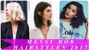 messy bob hairstyles 2017 youtube
