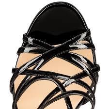 christian louboutin paris ete patent leather black christian