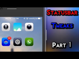 Iphone 5 Top Bar Icons Top 5 Statusbar Tweaks For Ios 9 Part 1 Youtube