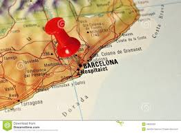 Spain On A Map by Barcelona On A Map Stock Photo Image 49605369