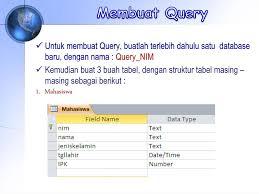 membuat query tabel adi rachmanto unikom q u e r y adi rachmanto unikom ppt download