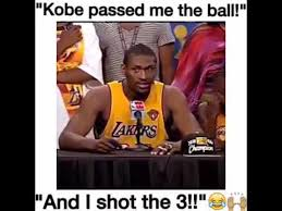 Metta World Peace Meme - world peace can t believe kobe passed him the ball youtube