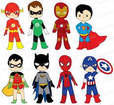superheroes digital clip art clipart panda free clipart images