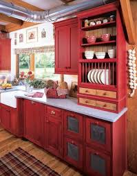 kitchen red kitchen cabinets with staggering red kitchen