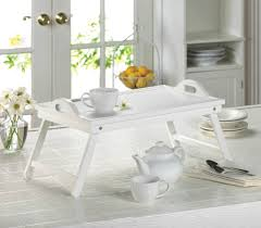 Breakfast In Bed Table by White Breakfast In Bed Folding Serving Tray With Handles What U0027s
