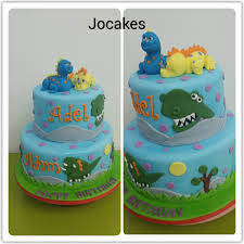 dinosaur birthday cake dinosaurs cake for sibling adel 1 and adam 4 s birthday jocakes