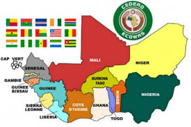Western Africa Map by Know Your Ecowas Media Foundation For West Africa