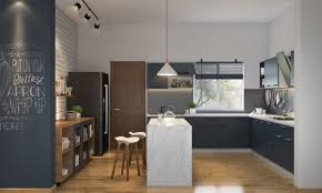 L Shaped Modular Kitchen Designs livspace com