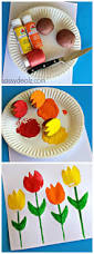 tulip potato printing craft for kids crafts card ideas and kid