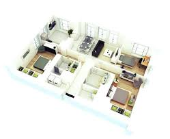 3 bedroom house plan 3d 3 bedroom house plans square shape three bedroom house plan in