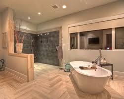 open shower bathroom design open shower cork floor bathroom design ideas remodels photos