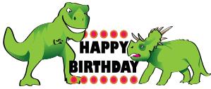 dinosaur birthday birthday