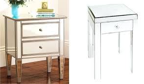 white stained bed side table with three drawer and rounded side table small black side table with drawers small side table uk