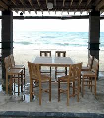 High Top Patio Furniture by Teak Patio Hi Top Table Set