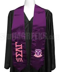 graduation scarf sigma lambda gamma psi alpha chapter graduation stole with