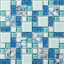 blue glass tile kitchen backsplash tst mosaic tiles glass conch tiles style sea blue glass tile