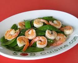 cuisiner des pois mange tout recette sauté de crevettes et pois mange tout