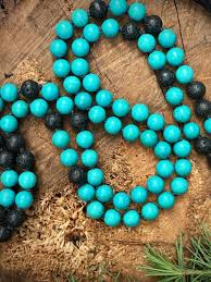 natural turquoise necklace images 108 natural turquoise lava stone mala bead prayer necklace jpg