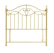 elena shiny gold metal headboards the bed post