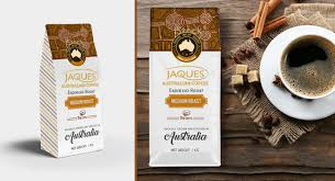 espresso coffee bag modern upmarket packaging design for jaques australian coffee by