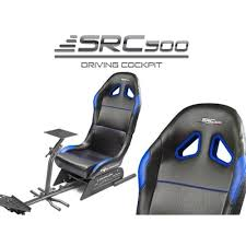 de course src 500 bleu simulation racing cockpit blue