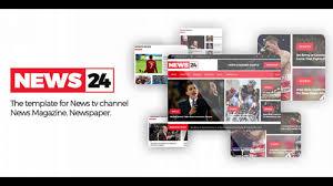 news24 responsive newspaper and news magazine template