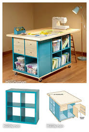 Scrapbooking Tables Desks Diy Craft Room Table With Ikea Furniture Under Budget Craft Room