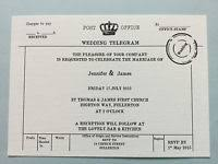 Telegram Wedding Invitation Personalised Vintage Telegram Wedding Invites Save The Dates