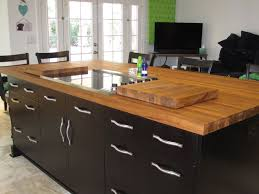 kitchen island u0026 carts excellent teak wooden countertop black