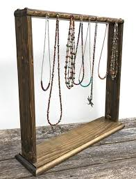 necklace display stand images Necklace display necklace rack free standing wooden jewelry jpg