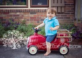 Radio Flyer Push Buggy 1st Birthday Boy Love His Red Radio Flyer Fire Truck Childrens