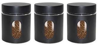 black canisters for kitchen canisters 3 black priority chef