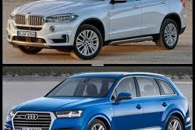bmw x7 vs audi q7 driving comparison 2015 bmw x5 vs 2016 audi q7
