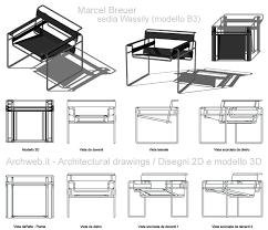 wassily poltrona wassily chair sedia modello b3