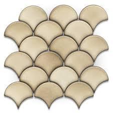 Backsplash Tile Lowes Shop Gbi Tile U0026 Stone Inc Glossy Circular Mosaic Ceramic Wall