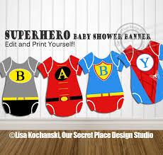Batman Baby Shower Decorations Instant Download Superhero Party Banner Superhero Baby Shower