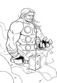 Coloriage Thor dessin à imprimer sur COLORIAGES info