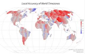 Map Of World Time Zones by Geotheory Mapping The Accuracy Of Time Zones