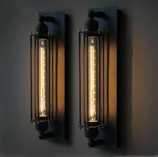 industrial halogen light fixtures vintage style industrial wall l with edison t300 halogen bulb