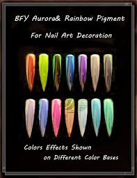 2017 newest aurora pigment rainbow pigment for nail decoration