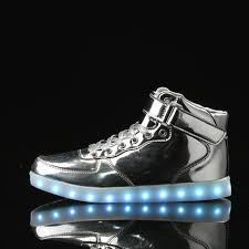light up sneakers a3016 silver light up led shoes for adults