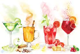 watercolor cocktail cocktail recipe feature for top santé magazine copy copy leona
