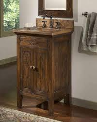Country Bathroom Vanities by Double Basin Copper And Wood Vanity With Shelf Rustic Bathroom