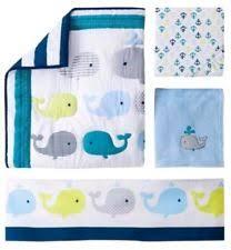 circo 4pc crib bedding set whales u0027n waves ebay