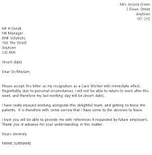 resign letter example example of letters of resignation