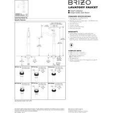 brizo 65436lf bn eco tresa brushed nickel one handle vessel