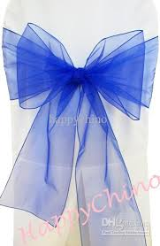 blue chair sashes royal blue chair sashes chair cover bows banquet pageant sashes