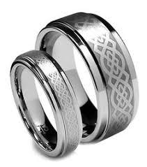 wedding ring direct tungsten wedding band set ring set flat top bevel edge