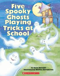 children halloween books five spooky ghosts playing tricks at by steve metzger
